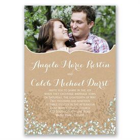 "Baby""s Breath - Invitation with Free Respond Postcard"