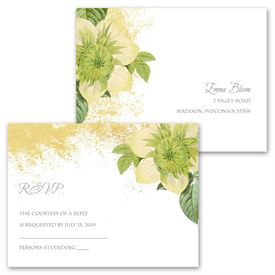Boho in Gold - Invitation with Free Respond Postcard