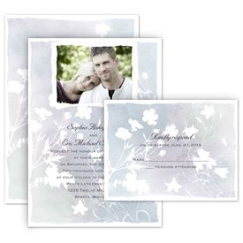 all in one wedding invitations wildflower watercolor all in one invitation - All In One Wedding Invitations