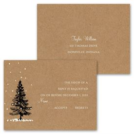 Let It Snow - Invitation with Free Respond Postcard