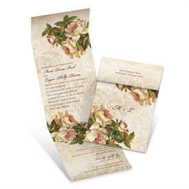 Beautifully Antique  Invitation with Online Reply