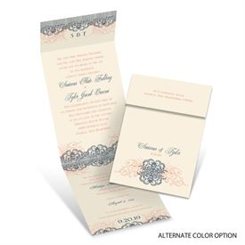 Beyond Beautiful - Ecru - Invitation with Online Reply