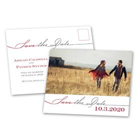 Modern Romance - Save the Date Postcard