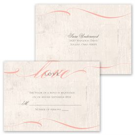 Love Endures - Invitation with Free Response Postcard