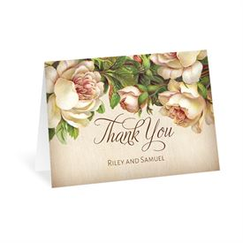 Antique Rose - Thank You Card