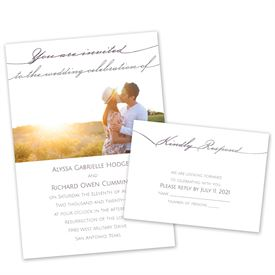 Pick Your Color Wedding Invitations: 