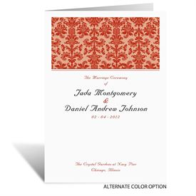 Clearly Refined - Wedding Program