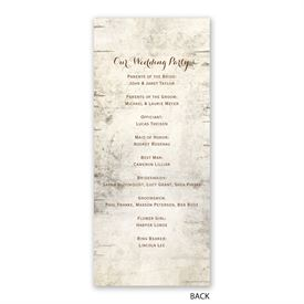 Birch Tree Carving - Wedding Program