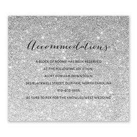 Glitter Illusion - Silver - Information Card