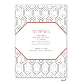 Modern Muse -  Invitation with Free Respond Postcard