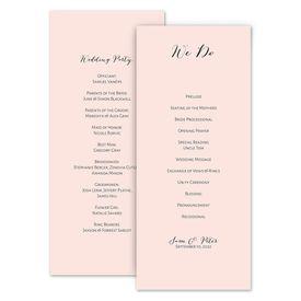 Wedding Programs: Minimalist Beauty Wedding Program