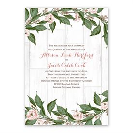 Farmhouse Floral Invitation with Free Response Postcard