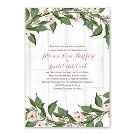 Farmhouse Floral Invitation with Free Response Postcard