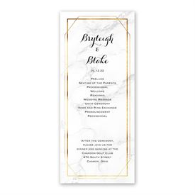 Marble Frame Wedding Program