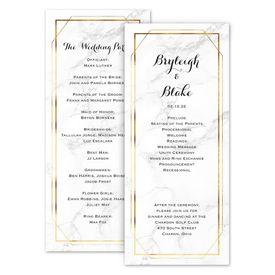 Wedding Programs: Marble Frame Wedding Program