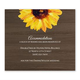 Country Sunflowers - Information Card
