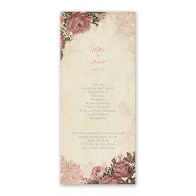 Vintage Roses Wedding Program