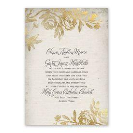 Rustic Glam Invitation with Free Response Postcard