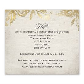 Rustic Glam - Information Card
