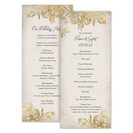Wedding Programs: Rustic Glam Wedding Program
