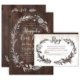 Wedding Invitation Packages.Ever After Invitation With Free Response Postcard