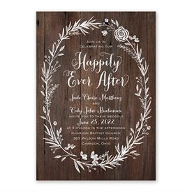 Ever After Invitation with Free Response Postcard
