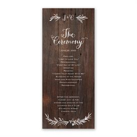 Ever After - Wedding Program