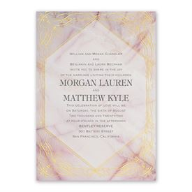 Rose Quartz Invitation with Free Response Postcard