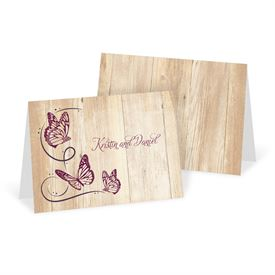 Wedding Thank You Cards: Butterfly Swirl Thank You Card