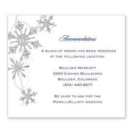 Snowflake Sparkle - Information Card