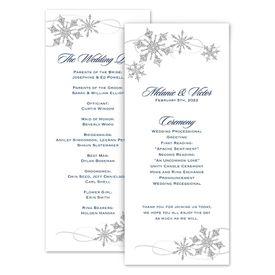 Wedding Programs: Snowflake Sparkle Wedding Program