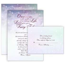 Romantic Wedding Invitations Anns Bridal Bargains