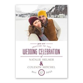 Photo Celebration Invitation with Free Response Postcard