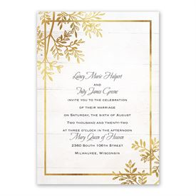 Country Glam Invitation with Free Response Postcard