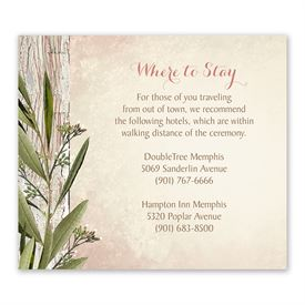 Country Greenery - Information Card