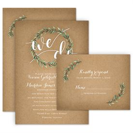 Country Wedding Invitations Boho Invitation With Free Response Postcard