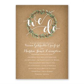Country Boho Invitation with Free Response Postcard