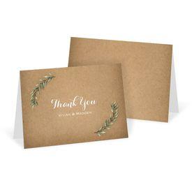 Wedding Thank You Cards: Country Boho Thank You Card