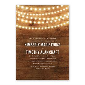 Brilliant Lights Invitation with Free Response Postcard