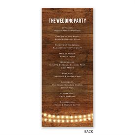 Brilliant Lights - Wedding Program