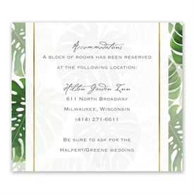 Pretty Palms - Information Card