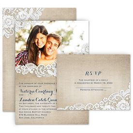 White Wedding Invitations: 