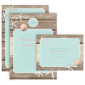 Beach Wedding Invitations Retreat Invitation With Free Response Postcard