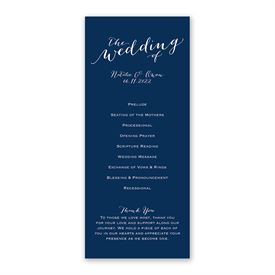 Keep It Simple - Wedding Program