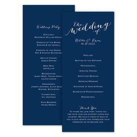 Wedding Programs: Keep It Simple Wedding Program