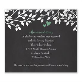 Chalkboard Lovebirds - Information Card