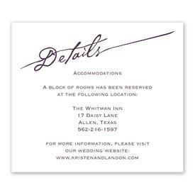 Elegant Script - Information Card