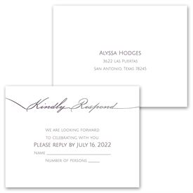 Simple Elegance - Invitation with Free Response Postcard