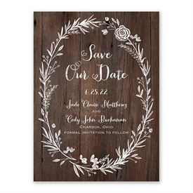 Save The Date Magnets Ever After