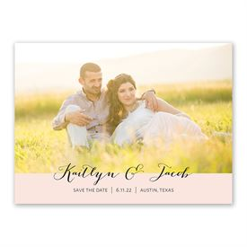 Minimalist Beauty Save The Date